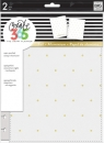 Create 365 - The Happy Planner - CLASSIC - Snap-In Cover - White/Gold Dots