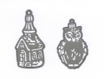 Craftables - Tiny´s Ornaments Church and Owl - Stanze