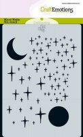 Angel & Bear Stars and Moon - Stencils - CraftEmotions