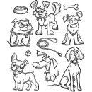 Crazy Dogs - Cling Stamps - Tim Holtz - Stampers Anonymous