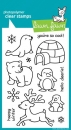 Critters in the Snow - Stempel