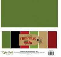 "Echo Park - Celebrate Christmas - Solids Set - 12""x12"""