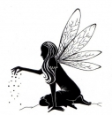 Fairy Dust Silhoutte - Clear Stamps - Lavinia