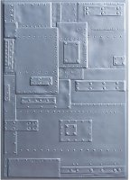 Sizzix 3-D Embossing Folder - Foundry - Tim Holtz