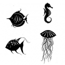 Sea Creatures - Clear Stamps - Lavinia