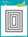Fancy Scalloped Rectangle Stackables - Die - Lawn Cuts