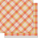 "Perfectly Plaid Fall - Candy Corn - 12""x12"""