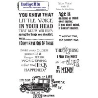 Little Voice - Red Rubber Stamp - IndigoBlu
