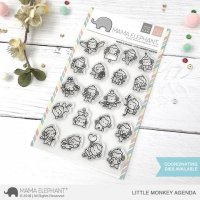 Little Monkey Agenda - Clear Stamps - Mama Elephant