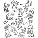 Mini Cats & Dogs - Cling Stamps - Tim Holtz - Stampers Anonymous