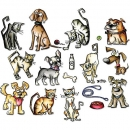Mini Crazy Cats & Dogs by Tim Holtz - Framelits