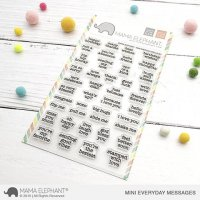 Mini Everyday Messages - Clear Stamps - Mama Elephant