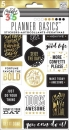 Create 365 - The Happy Planner - Basics - Stickers Black, White and Gold