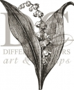 Lily of the Valley - Holz-Stempel