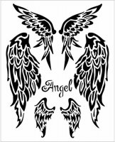 Wings - Stencil - Stamperia