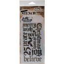 Holiday Script - Tim Holtz - Stencil