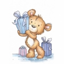 Milton with Gifts - Stempel - Wild Rose Studio