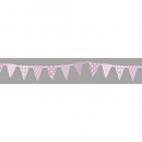 Washi Tape Wimpel Girlande - Babyrosa